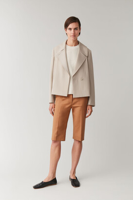 Cos Cropped Lapelled Jacket