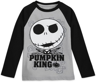 Disney Jack Skellington Long Sleeve Baseball T-Shirt for Boys Tim Burton's The Nightmare Before Christmas