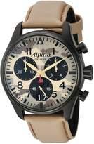 Alpina Men's AL-372MLY4FBS6 STARTIMER PILOT Analog Display Quartz Beige Watch