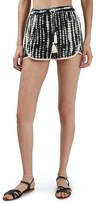 Topshop Women's Crochet Trim Tie-Dye Shorts