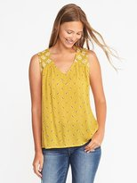 Old Navy Sleeveless Embroidered Top for Women