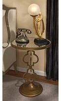 Toscano Film Noir Art Deco Mirrored End Table Design