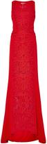 Antonio Berardi Sleeveless High Neck Floral Embroidered Maxi Dress