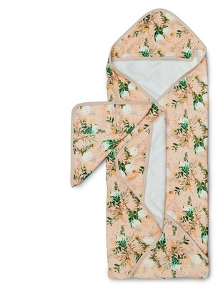 Loulou Lollipop Hooded Towel Set - Blushing Protea
