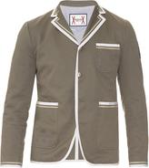 Moncler Gamme Bleu Contrast-trim cotton-gabardine blazer