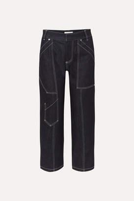Chloé Cropped High-rise Straight-leg Jeans - Dark denim
