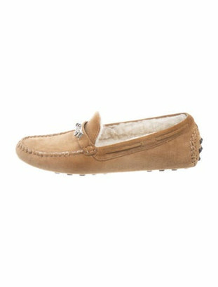 Hermes Irving Suede Driving Loafers Tan