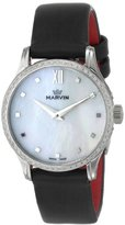 Marvin Women's M020.71.74.94 Malton Stainless Steel Watch with Black Band