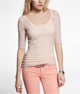 Express Elbow Sleeve Lace Layering Tee