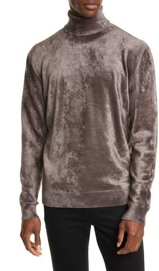 Balenciaga Chenille Turtleneck Sweater