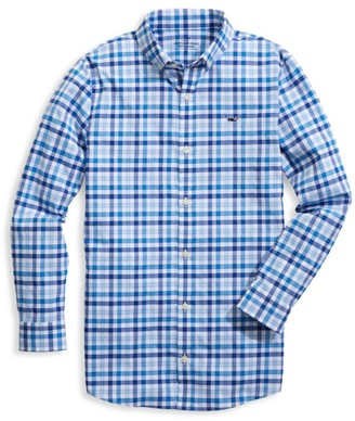 Vineyard Vines Little Boy's & Boy's Whale Plaid Shirt
