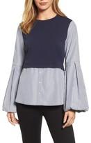 Halogen Women's Bubble Sleeve Top