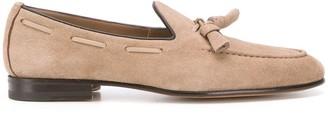 Santoni Tassel-Embellished Low-Heel Loafers