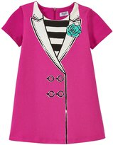 Moschino Dress With Collar (Toddler/Kid) - Hot Pink - 3 Years