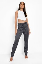 Thumbnail for your product : boohoo Cropped Satin Luxe Jogger