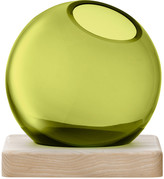 LSA International Axis Vase & Ash Base - Olive Green - Small