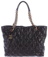 Chanel Quilted Caviar Coco Pleats Tote