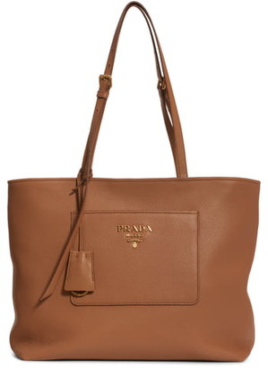 Prada Daino Top Zip Leather Tote