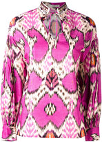 Etro printed tie-fastening blouse - women - Silk/Cotton/glass - 40