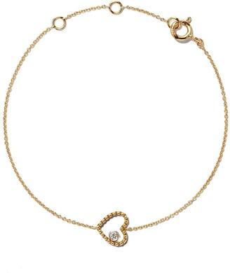 As 29 18kt yellow gold Mye heart beading diamond bracelet