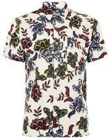 Topman White Floral Print Shirt