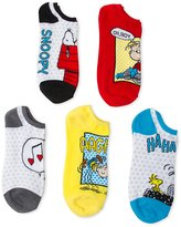 Peanuts Women's 5 Pack No Show Socks