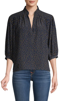 Frame Cali Dotted Silk Top