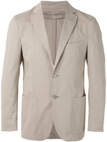 Corneliani inner zip blazer - men - Cotton/Spandex/Elastane/Viscose/Cashmere - 48
