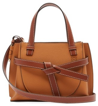 Loewe Gate Mini Leather Tote Bag - Womens - Tan