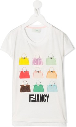 Fendi FFancy handbag print T-shirt