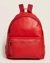 Longchamp Vermilion Parisis Leather Backpack