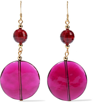 Kenneth Jay Lane 22-karat Gold-plated Bead And Resin Earrings
