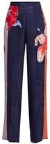 Etro Lily-Print Wide-Leg Trousers