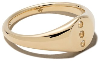Tom Wood 9kt yellow gold Eiril diamond ring