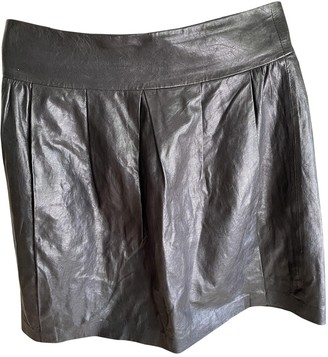 Vince Black Leather Skirt for Women
