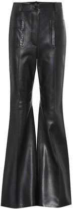 Gucci High-rise leather bootcut pants