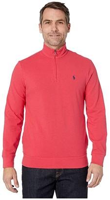 Polo Ralph Lauren Classic Mesh 1/4 Zip Shirt (Rosette Heather) Men's Clothing