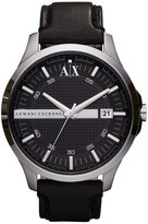 Armani Exchange Smart Leather Strap 3 Hand and Date Watch