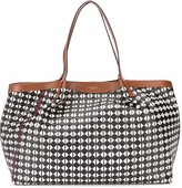 Serapian geometric print large tote bag