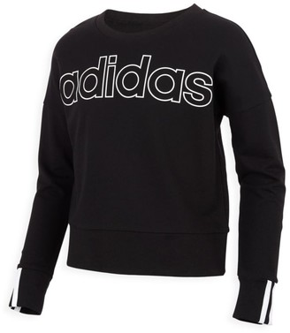 adidas Girl's 3-Stripe Pullover Sweatshirt