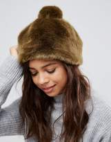 Pieces Faux Fur Bobble Hat