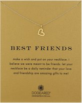 "Dogeared Reminder ""Best Friends"" -Plated Sterling Silver Heart Pendant Necklace, 18"""