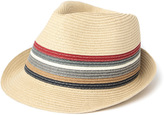 Barbour Tain Beige Stripe Paper Trilby
