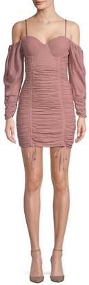 Ronny Kobo Batya Ruched Mini Dress