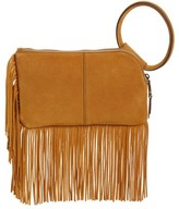 Hobo Sable Leather Clutch - Beige