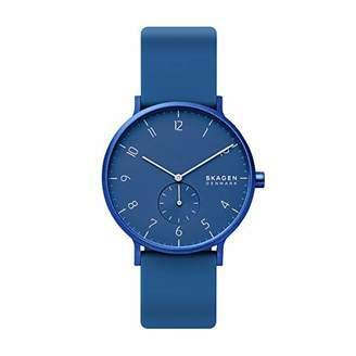 Skagen Men's Aaren Kulor Quartz Silicone Watch Color: