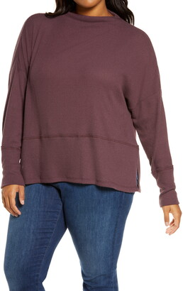 Caslon Rib Funnel Neck Sweater