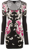 Just Cavalli butterfly print fitted dress