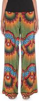 Valentino Enchanted Wonderland wide-leg silk-crepe trousers