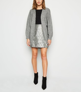 New Look Ribbed Knit Batwing Cardigan